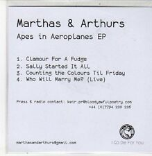(DC68) Marthas & Arthurs, Apes in Aeroplanes EP - DJ CD