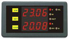 DC 0-200V 1000A Programmable Meter Controller Volt Amp Power Ah Auto Shut Down