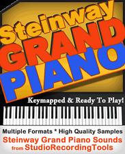 Steinway GRAND Piano Sound Reason Refill Exs 24 Wav Akai Soundfont Nki Sample CD