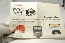 Canon EOS 300 Rebel 2000 camera  Informational refference Guide booklet