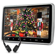 10.1'' DVD Player schwarz Auto Kopfstütze 1024X600 FM TFT HDMI Monitor+Kopfhörer