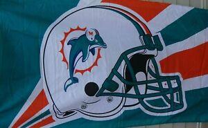 Miami Dolphins HELMET DESIGN 3 x 5 FLAG ! VINTAGE DESIGN ! FAST SHIPPING !