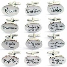 Silver Engraved Wedding Cufflinks Dad Cuff Links Groom Best Man Groom Usher