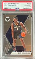 2019 Panini Mosaic 209 Zion Williamson RC Rookie Pelicans PSA 10 Gem Mint