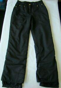 Obermeyer Women's Cortina Insulated Ski Snowboard Pants Black • Ladies Size 6