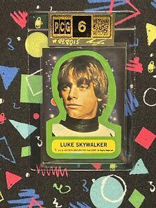 1977 Topps Star Wars Luke Skywalker #1 Rookie RC Sticker 1st Series PCG 6