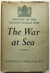 1956 1st THE WAR AT SEA 1939 to 1945, Vol 2, THE PERIOD OF BALANCE, by Roskill