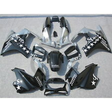 Injection Plastic Fairing Kit For Honda CBR600F3 CBR 600 F3 97-98 Black Silver