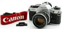EXC+5 CANON AE-1 Program Silver 50mm f/1.8 New FD NFD Lens Camera w/strap Japan