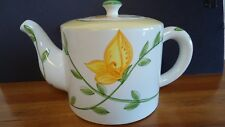 Sur La Table Teapot Portugal Tea Pot Yellow Green Floral Excellent