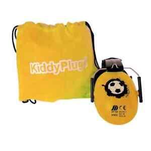 KIDDYPLUGS Fußball Stadion Kinder Gehörschutz - GELB inkl. Baggy
