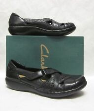 Clarks Ashland Rivers Black Slip On Loafers - size 6