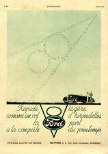 Ford V8 XL Reklame Frankreich 1935 V 8 französische Werbung