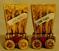 Vintage Covered Wagon Salt and Pepper shakers Lake Tahoe Souvenir RJSI Designs