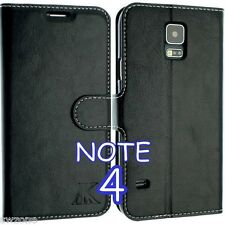 FOR SAMSUNG GALAXY NOTE 4 N9100 LEATHER WALLET CASE COVER FLIP POUCH SM-N910F