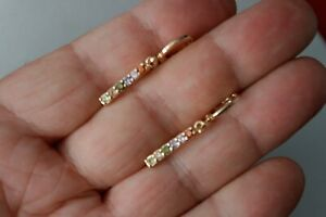 Beautiful Yellow Gold Filled Topaz Dangle Earrings In Gift Box