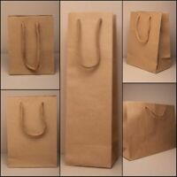 6 Pack Natural Brown Gift Bags Cord Handles Crafts Gifts Wholesale Bulk Buy
