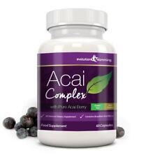Acai Berry Alta Resistencia Pérdida de Peso Dieta 455mg 60 cápsulas Evolution Slimming