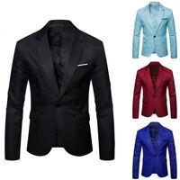 Mens Fashion Suits Jacket Slim Fit Blazer Party Wedding Business Casual Blazer