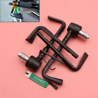 "Black Lever Guards Aluminum Brake Clutch 7/8"" Handlebar Protection Bar Ends UK"