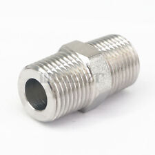"""1/2"""" BSP Male to 1/2"""" BSP Male 304 Stainless Steel Pipe Fittings Connectors"""