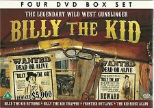 THE LEGENDARY WILD WEST GUNSLINGER BILLY THE KID - 4 DVD BOX SET Roy Rogers