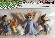 VAT Dress It up Christmas The Good Shepherd 6 Buttons Crafting Sewing