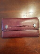 Cole Haan Wallet Trifold Brown Leather Womens Small Soft