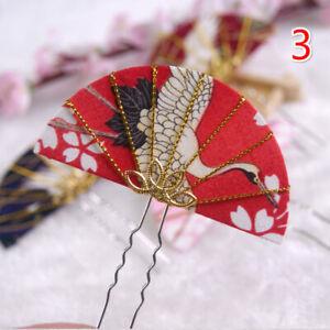 Women Japanese Hair Clip Pin Chop Stick Clasp Kimono Accessories Handmade 3.7''