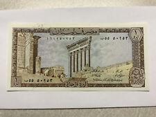 Lebanon Banque Du Liban Une Livre Crisp CU #9775
