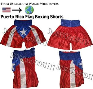 Puerto Rico Flag Boxing Trunks Boxing Shorts Martial Arts Training Fitness Short