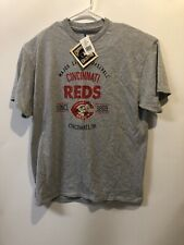 Cooperstown Collection MLB Cincinnati Reds Baseball Throwback T-Shirt Mr. Red L