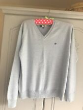 Mans Size M Vintage King Marino Blend Pale Blue Jumper Pre Owned