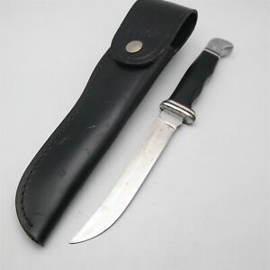 Early Vtg Buck Hunting knife No. 105 W/ upside down logo & Sheath