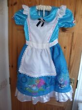 ALICE IN WONDERLAND BLUE  DRESS  9 - 10 YEARS  DRESSING UP OUTFIT