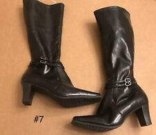 NATURALIZER WOMEN'S Esterman Black Tall Heel Boots US Size 7 NEW