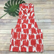 Mister Robert Vintage Maxi Dress Size S Orange White Backless 70s Full Length