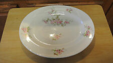 """D C Limoges France 12"""" Platter Oval Platter Chop Plate L Bernardaud Pink Roses"""