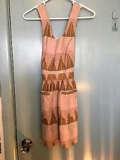 Toshop Petite checked dress with cross over back in size UK 6