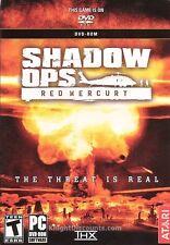 SHADOW OPS: RED MERCURY Atari DVD PC Game NEW XP BOX