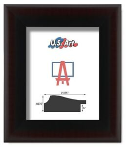"""US Art Frames 2.37"""" Heavy Two Tone Cherry Black Polystyrene Picture Frame Lots"""