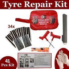 Emergency Car Van Motorcycle Tubeless Tyre Puncture Repair Kit 41 Pieces