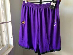 NWT Nike Men's NBA LA Lakers Auth Team Issued Purple Shorts. AV1809-504 XXL T