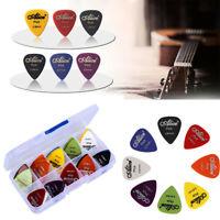 100 Pcs Guitar Picks Folk Instrument Acoustic Electric Bass Plectrums Mix Color