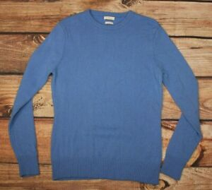 Munrospun Ladies Crew Neck Classic Sweater Jumper Blue 100% Wool Lambswool S