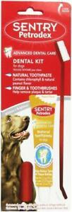 Petrodex Dog Oral Dental Kit Peanut Toothpaste Toothbrush & Finger Toothbrush