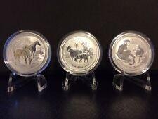 2014-16 Australian Lunar .999 Silver 1/2 oz Year of the Horse, Goat, & Monkey BU