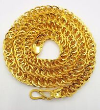 """Hollow 22k Yellow Gold 20"""" Link Chain Necklace 19.950 Gm Rajasthan India Gift"""