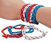 Pack of 24 - Friendship Bracelets Red-White-Blue - Party Bag Fillers