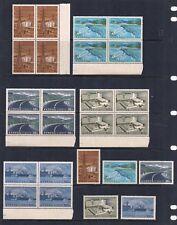 CYPRUS COMPLETE STAMP SET SCOTT #292 - 296 SIDE BLOCKS OF 4 + 1 MNH 1967 FRESH